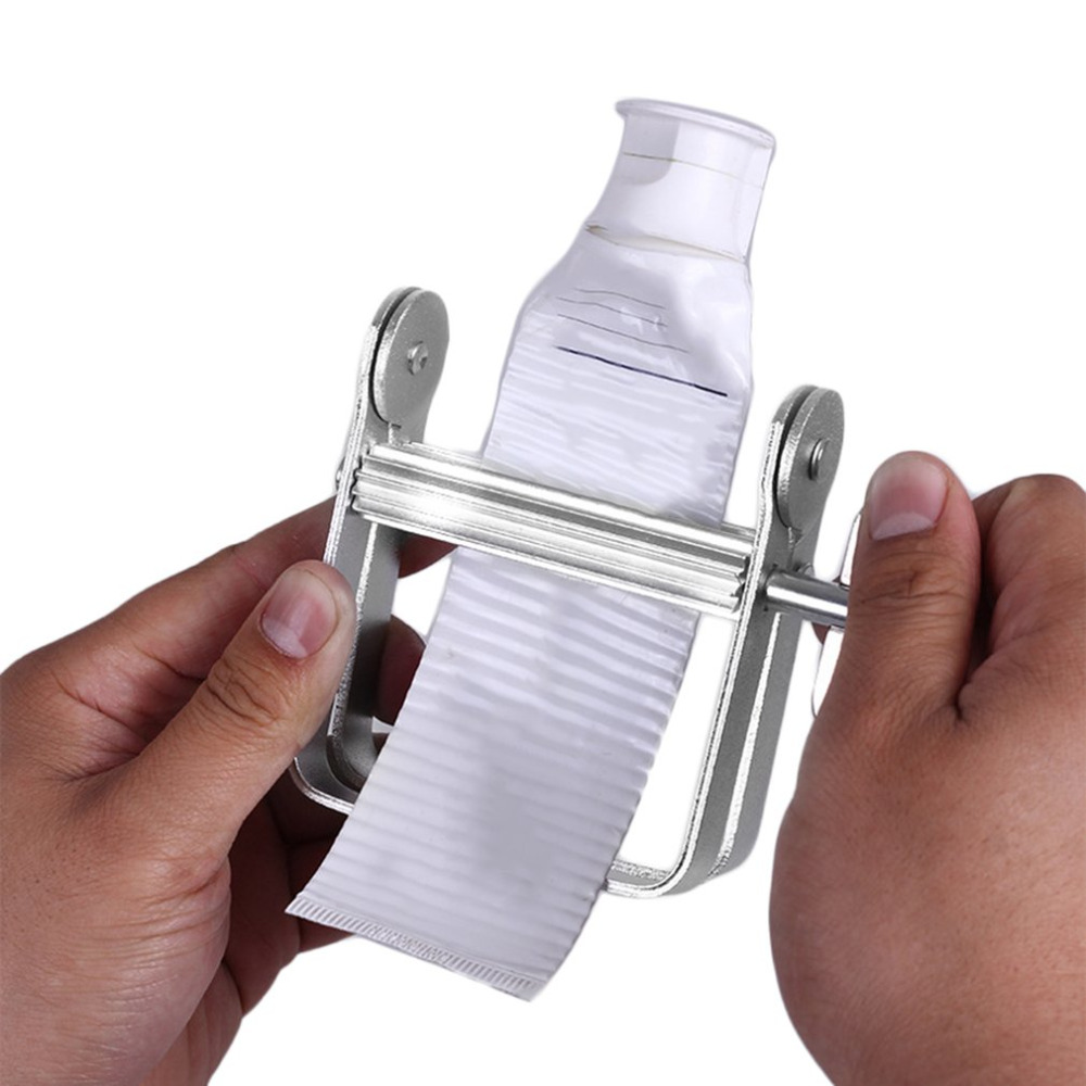 Hot Aluminum Manual Toothpaste Dispenser Tooth Paste Tube Squeezer Bathroom Accessories Hair Dye Tubes Rolling Squeezer Tools