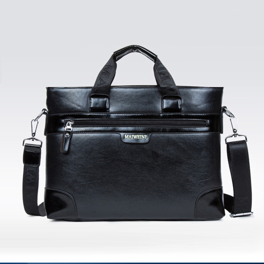 Ipad PU Fashion Briefcase Male Messenger Bag Lawyer Work Business Bag Handbag Men Borsa Porta Abogado Computer Bag For Men 5GW16(China)