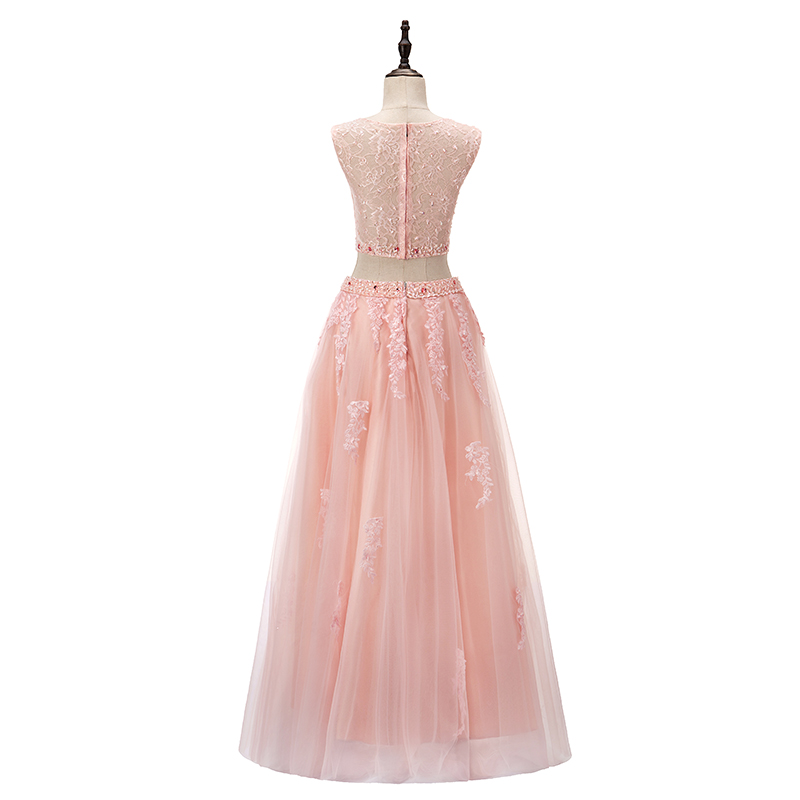Two Piece Prom Dresses Sweet 16 Pink Ball Gown Prom Debutante Gowns ...