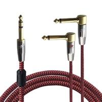 Audiophile Câble Audio 6.35mm à Double 6.35mm Angle 1/4