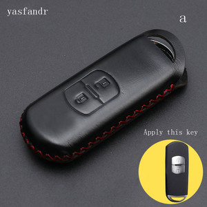 Image 2 - 2 düğmeler r anahtar kapağı kılıfı çanta cüzdan anahtarlık araba aksesuar için Mazda 2 / 3/ 5/ 6 CX 3 CX 4 CX 5 CX 7 CX 9 Atenza Axela MX5