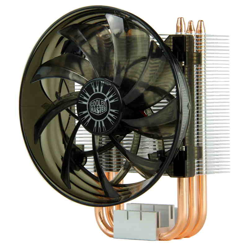 Cooler Master 3 Copper Heatpipes CPU cooler for Intel 775 115X AMD AM3 AM2 FM2 CPU radiator 120mm 3pin cooling CPU fan PC quiet akasa cooling fan 120mm pc cpu cooler 4pin pwm 12v cooling fans 4 copper heatpipe radiator for intel lga775 1136 for amd am2