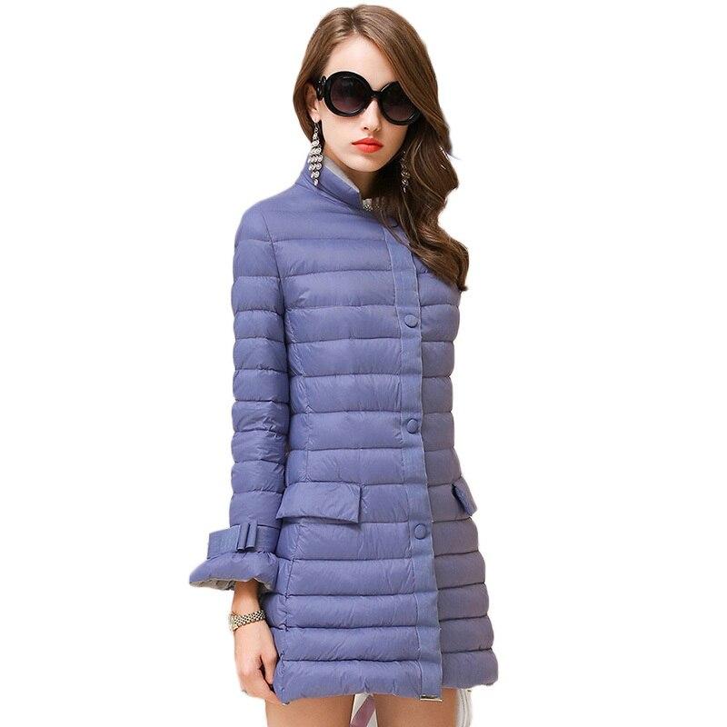 Down jacket female 2018 new winter jacket women long down coat bread stripes speaker sleeve women coat warm women down jacket original nike women s down coat vest warm down jacket sportswear