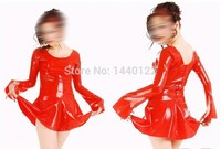Pageant dresses little girls 2016 full sleeve red sexy bodycon latex dress đảng mặc trang phục vestidos thêm kích thước hot sale