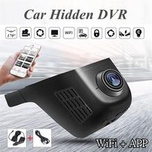 Новинка, Автомобильный видеорегистратор, мини, Wifi, автомобильная камера, Full HD 1080 P, видеорегистратор, видеорегистратор, видеокамера, двойной объектив, Dvr, управление приложением