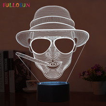 Novelty 3D Cool Smoking Man Shape Table Lamp LED Night Lights as Holiday Decoration & Gifts