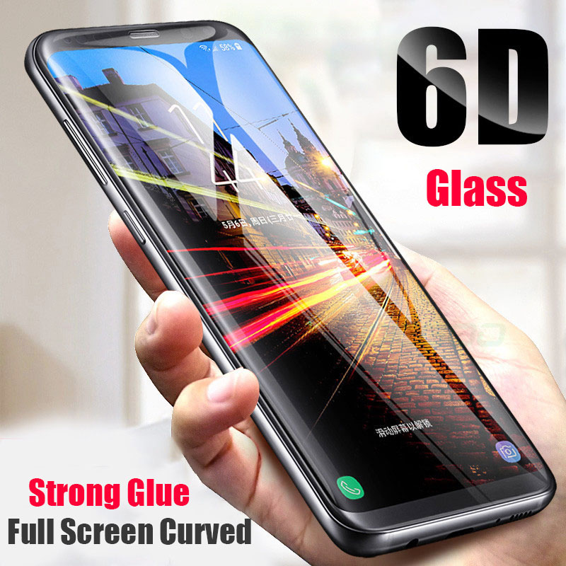 Samsung Galaxy S9 S6 S7 Edge Plus Curve Tempered Glass 6D Ամբողջ էկրանով պաշտպանիչ Samsung S10 S8 Plus Note 9 8 Պաշտպանիչ