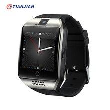 Câmera smart watch q18 passometer bluetooth smartwatch saúde rodada 2016 dispositivos wearable para ios android pk gt08 gv18 dz09(China (Mainland))