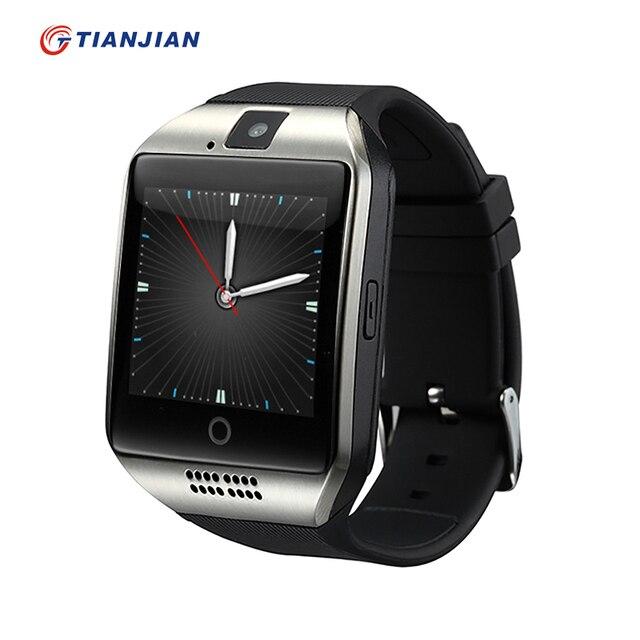 Smart Watch Q18 Bluetooth Smartwatch Шагомер Камера Здоровья Круглый 2016 Носимых Устройств Для Android IOS ПК GT08 DZ09 GV18