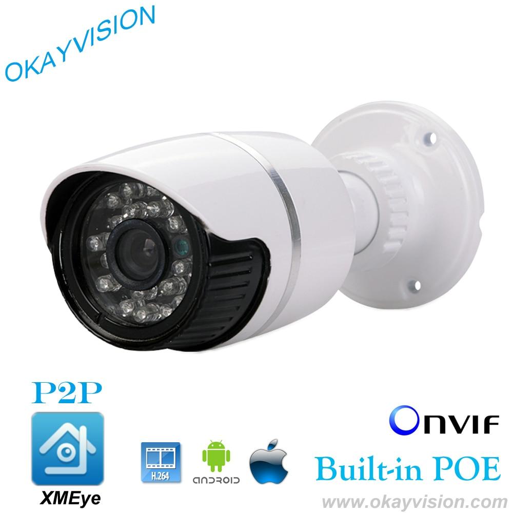 ФОТО HD 960P PoE IP Outdoor Weatherproof Bullet Camera DC 48V PoE IP Camera 1.3MP P2P IP PoE Camera ONVIF IP66 IP CAMERA