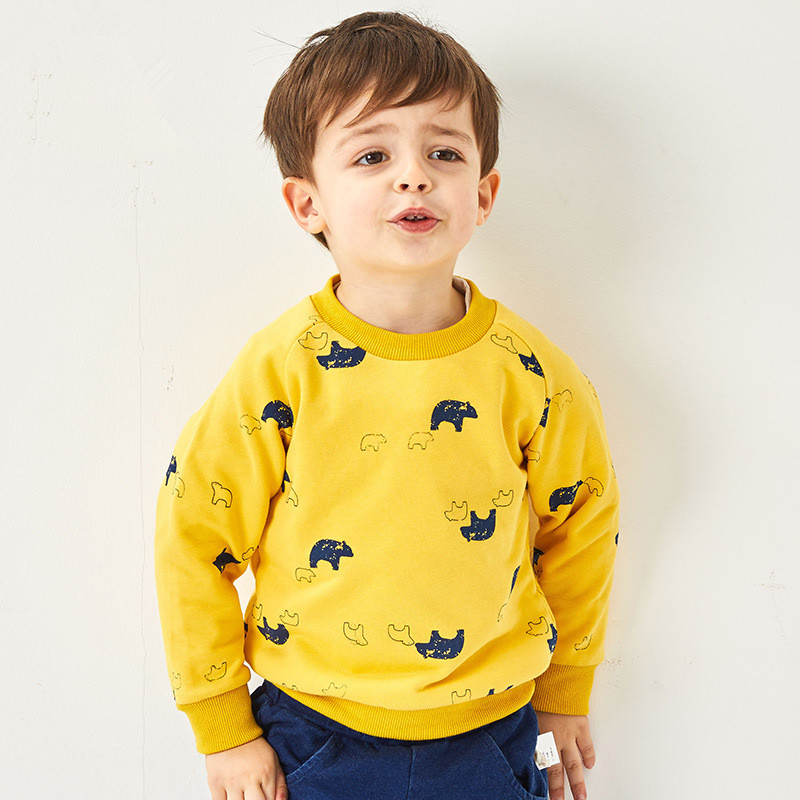T-Shirts Boys Hoodies Girls Clothes Baby-Girl Kids Children for Floral-Pattern Tops Brand