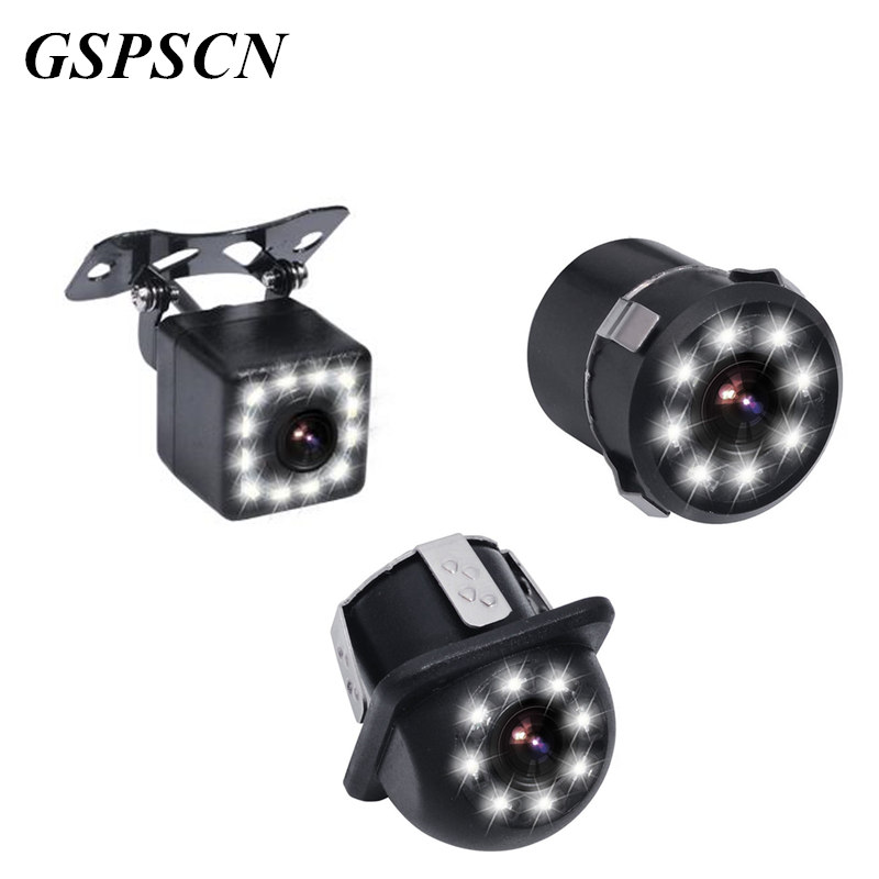 GSPSCN Upgrade Backup Cameras with 12 LED Night Vision 170 Degree Car Rearview Camera Waterproof Parking Reversing Camera