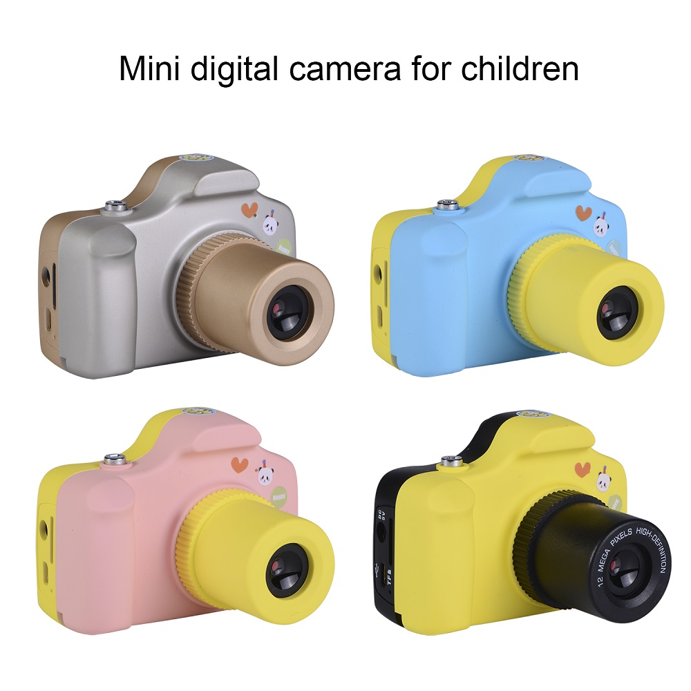 2MP 1080P Mini LSR Cam 1.5 Inch Digital Camera for Kids Baby Cute Cartoon Multifunction Camera for Children Birthday Best Gift
