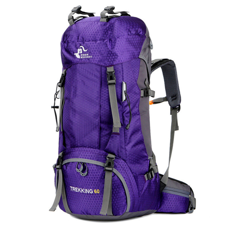 Free Knight 60L Camping Hiking Backpack Outdoor Women&Men Hiking Athletic Sport Climbing Bags Travel Backpack With Rain Cover