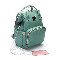 USB Carregador Lager Capacidade Múmia Multifuncional saco de Fraldas Mochila Ao Ar Livre Saco de Viagem Mochila saco do Desenhador Saco de Enfermagem para Cuidados Com o Bebê