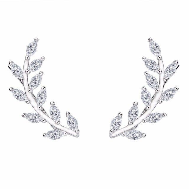 BELLA 925 Sterling Silver Multi Oval Drop Mini Gems Ear Wire Wrap Sweep Earrings w\ SGS Certification Wedding Jewelry