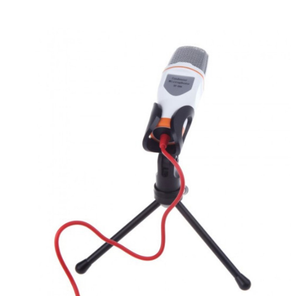 Computer Voice Microphone With Stand Capacitor Microphone Handheld Microphone Computer Main Direct-broadcast And Audio-video(China)