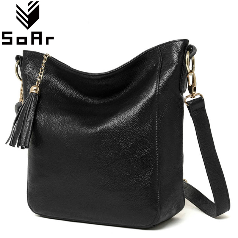 Tassel Women Bag Genuine Leather Shoulder Crossbody Bags For Women Bag Luxury Brand Leather Hot Sale 2018 New Arrival Fashion 4 qiaobao 2018 hot brand hot sale new fashion buckets women bags 100