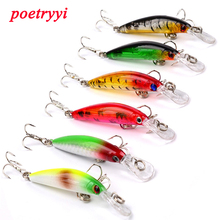 POETRYYI Minnow Fishing Lure 7cm 3.3g Crankbait Artificial Hard Bait Fly Tackle Plastic Fish Wobbler 30