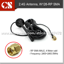 omni directional 2400MHz magnet 3M wire Antenna,WLAN antenna with Omni antenna, RP SMA MALE 3m cable,high quality