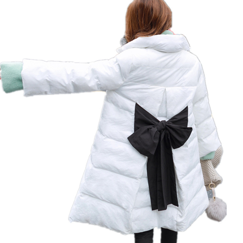 Winter Thick Sweet Large Bow Cloak Parka Stand Collar Cute Cotton Padded Jacket Women Warm Outerwear Lady Coat Big Size TT3103 чехлы для телефонов with love moscow силиконовый дизайнерский чехол для meizu m3s перья