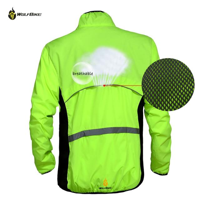 WOLFBIKE Tour de France Cycling Windproof Long Sleeve Jersey Professional Windbreaker Jacket Bicycle Bike Cycle Wear Sports Coat
