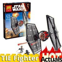 LELE 79210 First order Special toy Forces TIE Fighter model lepins Star Building Block wars Bricks Educational Toys 75101 541PCS