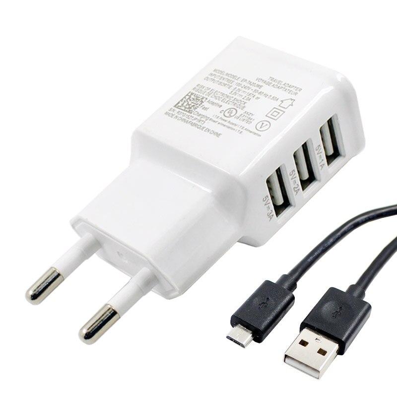 Adaptador de corriente USB para iPhone 6, 5S, 5 4S para Samsung Galaxy S5, S6, S7, 5V, 2A, EU, dispositivo de carga Multi USB, enchufe para Oneplus 3, puerto