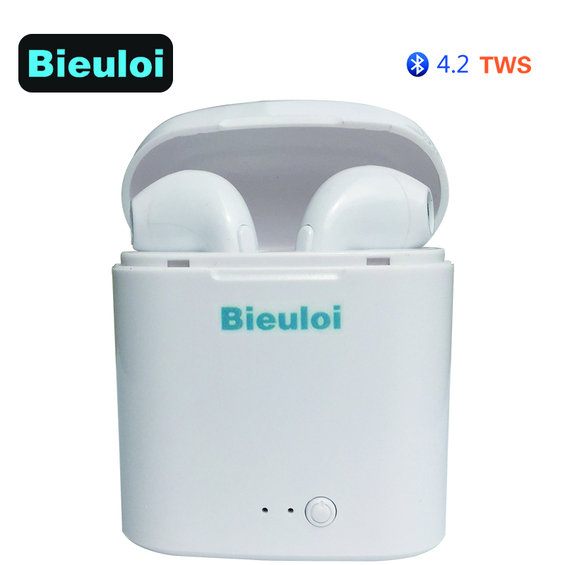 2018 NEW Mini Wireless Bluetooth 4.2 TWS Earphone Stereo Headset With Microphone Handsfree For iPhone Android earphones GOOD mini business bluetooth earphone wireless headset portable handsfree stereo headphones with microphone for iphone xiaomi samsung