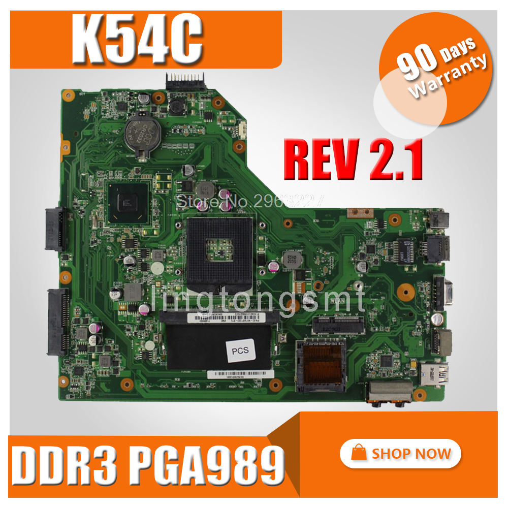 K54C Motherboard REV2.1 DDR3 PGA989 For ASUS K54C X54C X54C Laptop motherboard K54C Mainboard K54C Motherboard test 100% OK стол компьютерный мэрдэс ср 500м 160 сбес лев