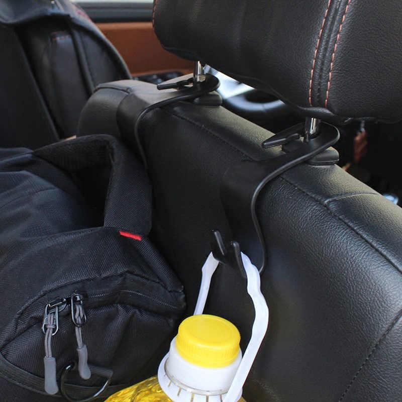 1 pc de coche del asiento trasero gancho Interior de productos ganchos para coche de suspensión bolso organizador gancho reposacabezas del asiento titular accesorio del coche