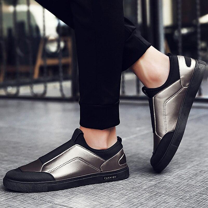Scarpe da tennis degli uomini di grandi dimensioni 39-45 in microfibra scarpe  da uomo di marca di lusso confortevole resistente all usura maschio  mocassini ... a01bd313f6f