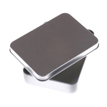 1pcs Small Empty Storage Box Silver Flip Metal Tin Box Storage Case Organizer For Money Coin Keys Luxurious Tool Box(China)