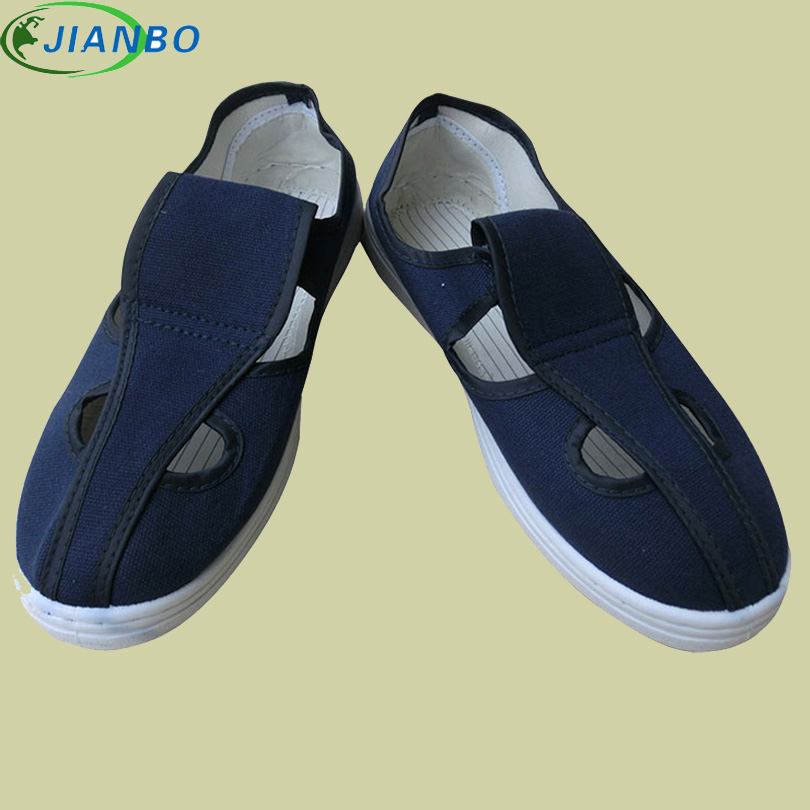 Manufacturers Provide Antistatic Canvas Four Eye Shoes Dust-Free Workshop PVC Bottom Breathable Sneakers Work Anti-static Shoes