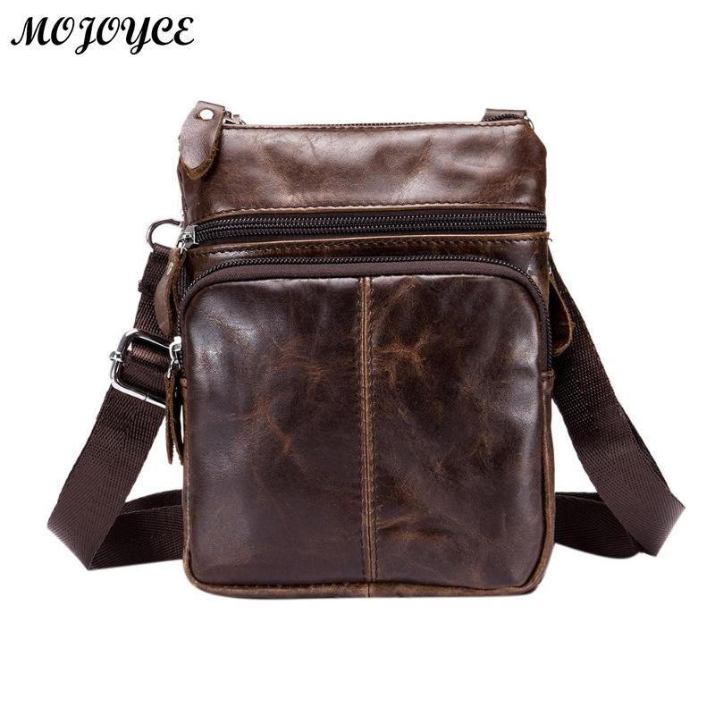 d91c91f3675c BULLCAPTAIN деловая сумка через плечо для мужчин Модная Кожаная маленькая  сумка через плечо перевязь натуральная кожаная сумка, дамская сумка .