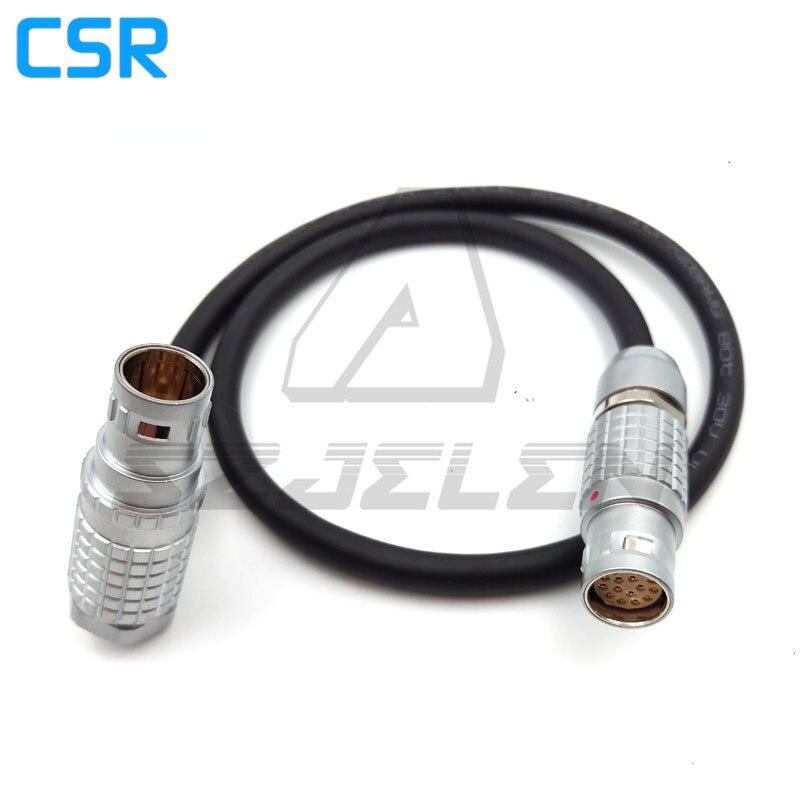 ARRI Alexa Viewfinder Cable, LEMO 2b FGJ 16 pin to FUR.2B. 16 pin, Arri Alexa EVF Cable (Short) - Right Angle to Straight