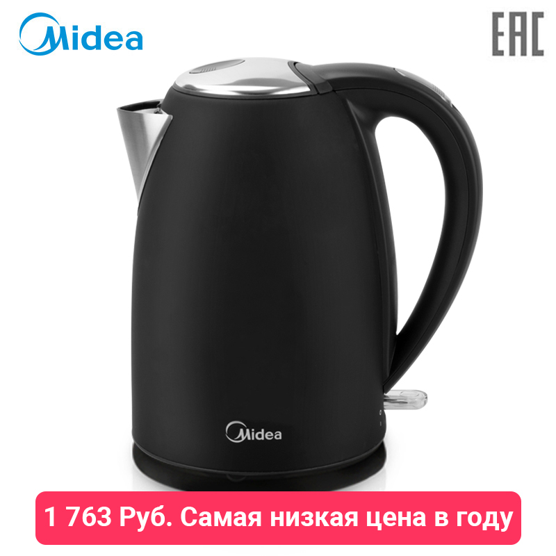 Electric kettle Midea MK-8050 powerful electric kettle stainless steel midea mk8050 large volume 1 7 l stylish design black color