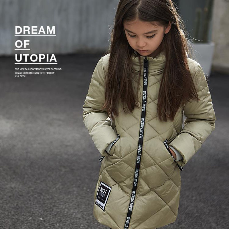 2016 Winter Brand New Girls Duck Down Jacket Kids Hooded Thick Warm Coat Parkas Children Outerwear Clothing Girls Overcoat kids clothes children jackets for boys girls winter white duck down jacket coats thick warm clothing kids hooded parkas coat