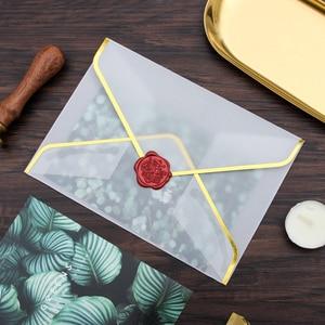 Image 2 - 20 pz/set di Stampaggio A Caldo di Stampa Busta di Carta Trasparente Acido Solforico Busta di Carta di Nozze Lettera di Invito Anniversario