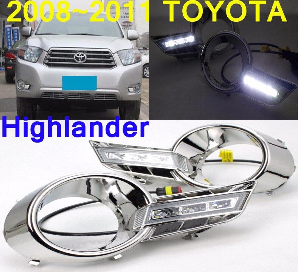 car-styling,2008~2011 Highlander daytime light,Free ship!LED,car accessories,Highlander fog light,Reiz,prado;COROLLA,camry