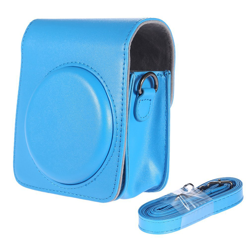 Classic Vintage Compact PU Leather Case Bag for Fujifilm Instax Mini 70 Instant Film Camera with Shoulder Strap image