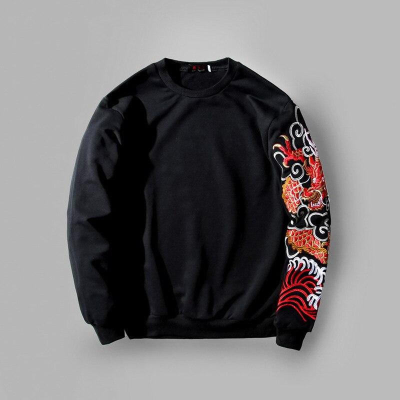 2019 nouveauté T Shirt peur dieu décontracté coton pas o-cou pleine mince veste broderie Dragon personnalité hommes et femmes robe