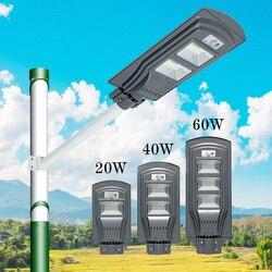 20W 40W 60W LED lampa słoneczna żarówka PIR czujnik ruchu i czujnik radarowy światła uliczne wodoodporna IP65 dla ogrodowa droga drogowa