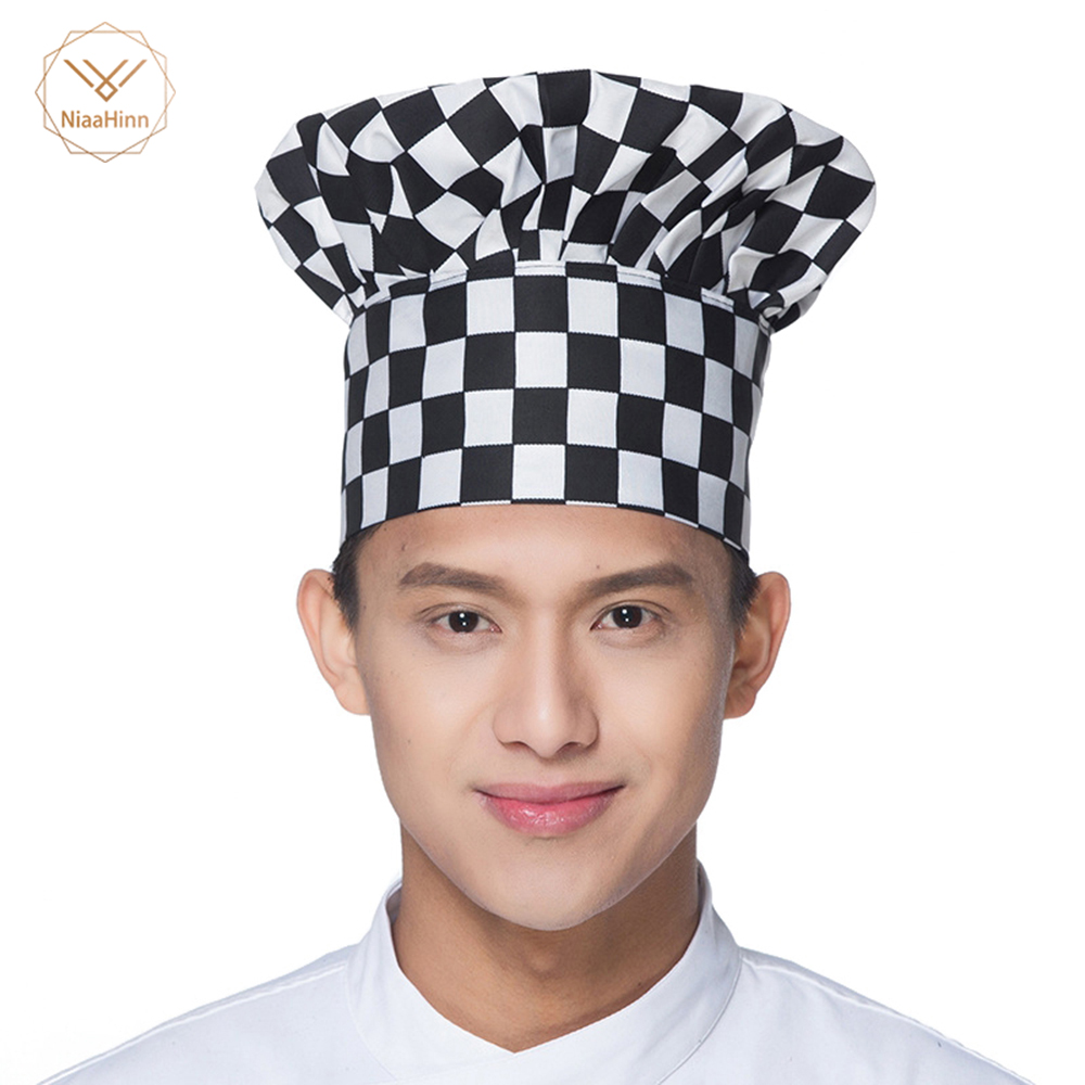2019High Quality Wholesale Solid Sushi Chef Waiter Hats Adult Restaurant Hotel Bakery Canteen Work Chef Cooker Workwear Fold Cap