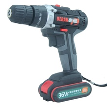 36V Screwdriver Cordless Drill 2 Speed Adjustment LED Lighting Electric Wrench Power Tools With 1/2 5200mAh Li-ion Battery