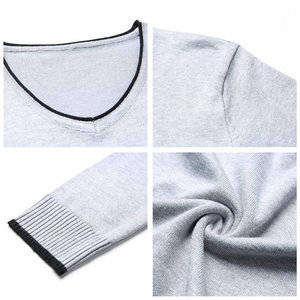 Image 4 - COODRONY Mens Sweaters 2019 Spring Autumn Cashmere Cotton Sweater Men Knitwear Shirt Pull Homme Casual V Neck Pullover Men 91012