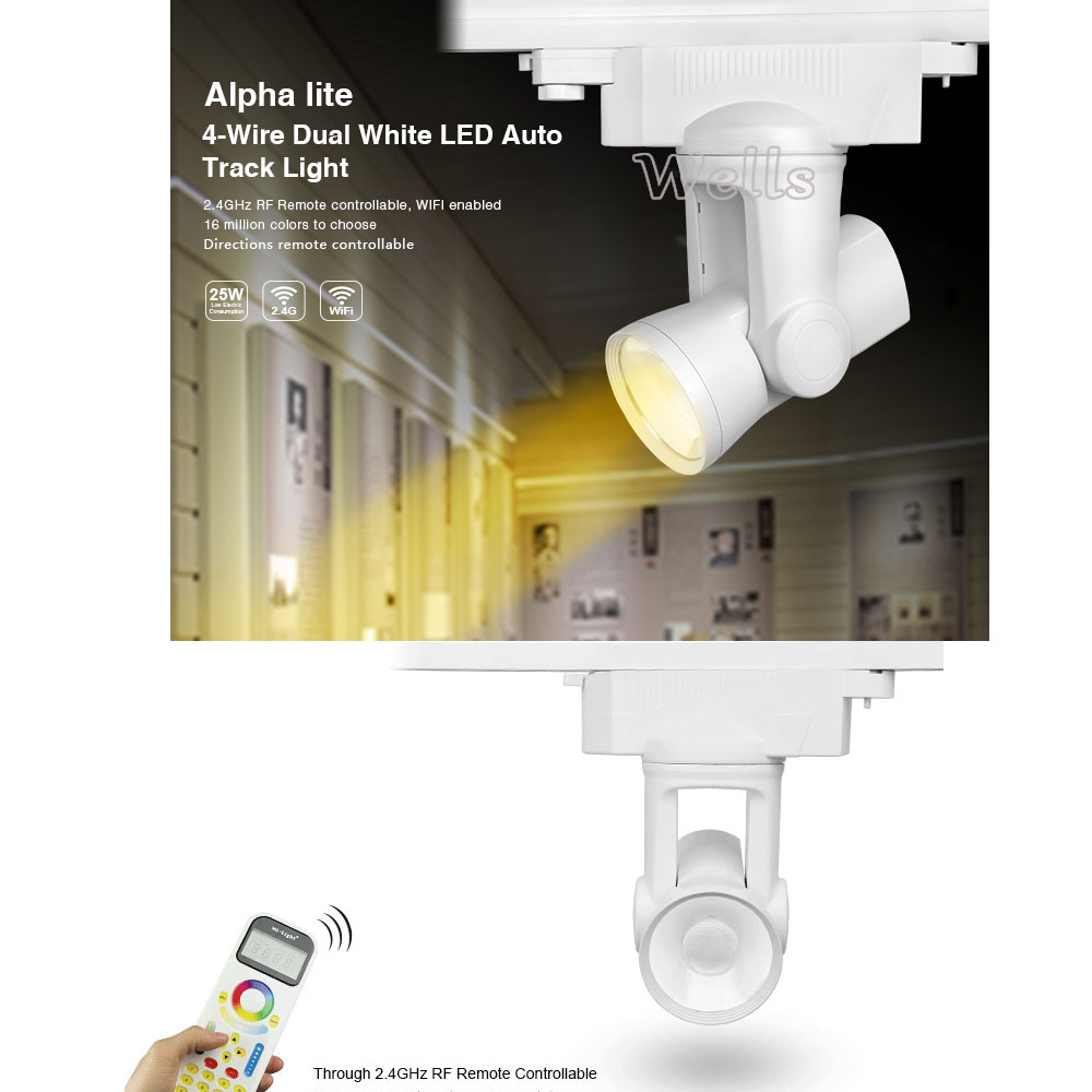 milight AL1/Al2/Al3/AL4/AL5/AL6 25W 2-wire/4-wire dimmer/Dual White/RGBW 99 Groups led Auto Track light +FUT090 Remote агхора 2 кундалини 4 издание роберт свобода isbn 978 5 903851 83 6