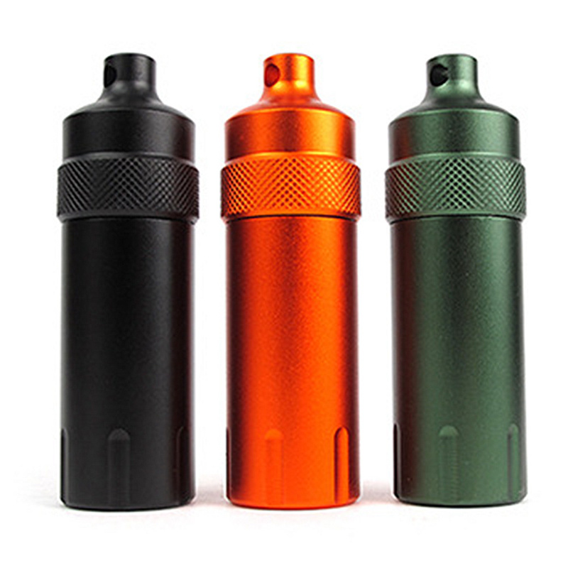 Portable Useful Waterproof Metal Pill Box Case Bottle Holder Medicine Pill Cases Splitters Survival First Aid