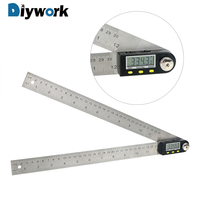 DIYWORK 30cm 12 Digital Angle Ruler Stainless Steel Inclinometer Goniometer Electronic Angle Gauge 360 Degree Protractor