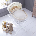 Natural bamboo environmentally friendly baby sleeping basket baby crib cradle